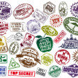 Rubber stamps a set 2 - Stock Vector