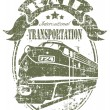 Rail transportation stamp — Stok Vektör