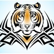 Stock Vector: TIGER TRIBAL