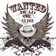 Wanted dead or alive — Stock Vector