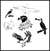 New-birds — Stock Vector