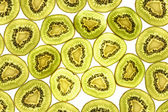 Kiwi fruit pattern. — Stock Photo