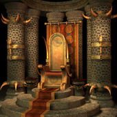 Fantasy throne room — Stockfoto