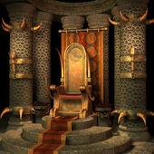 Sala do trono de fantasia — Foto Stock