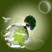 Zelená země — Stock fotografie