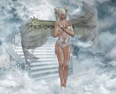Angel in heaven — Stock Photo