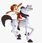 Pippi longstocking — Stock Photo