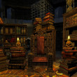 Foto Stock: Wizard 's room