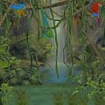 Forrest yağmur — Stok fotoğraf