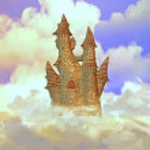 Castle in the sky — Stock Photo