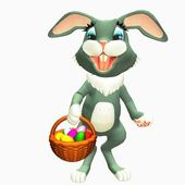 Easter bunny — Stockfoto