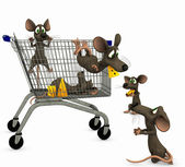 Mice go shopping — Stock Photo