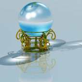 Magic crystal ball — Stock Photo