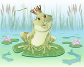 Frog king — Vector de stock