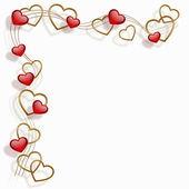 Cornice cuore — Vettoriale Stock
