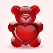Bära med hjärta — Stockvektor