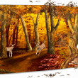 Autumn card - Stock Photo