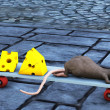 Mice on skateboard - Stock Photo