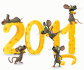 Mice with cheese , 2011 — Stock Photo