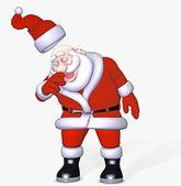 Santa gets a cold — Stock Photo