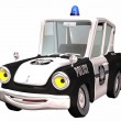 Toon police car - Stock Photo
