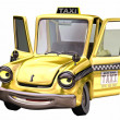Stock Photo: Toon taxi