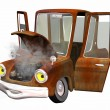 Old toon car - Stock Photo
