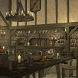 Medieval tavern — Stock Photo