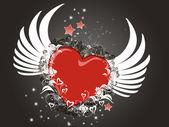 Volare il cuore — Foto Stock