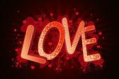 Love in 3d lettern — Stockfoto
