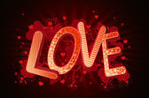Love in 3d lettern — Stock Photo