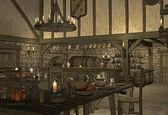 средневековый трактир — Стоковое фото