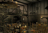 Medieval tavern — Stock Photo