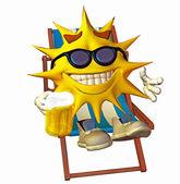 Sun laying in the sun — Stock Photo