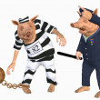 Prisoner and cop — Stock Photo #5045844