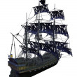 Pirate ship isolated - Stock Photo
