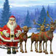 Stock Photo: Santa`s sleigh