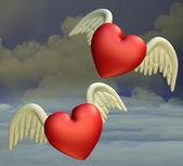 Flying hearts — Photo