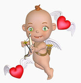 Toon cupid — Stock Photo