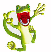 Funny gecko toon — Stock Photo