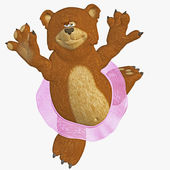 Dancing bear — Stock Photo
