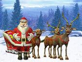 Santa`s sleigh — Foto Stock