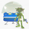 toon alien — Stock Photo