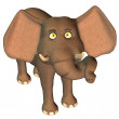 Cute toon elephant — Stock fotografie