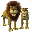 Stock Photo: Toon lions