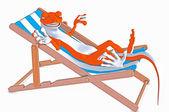 壁虎躺在阳光下 — 图库照片