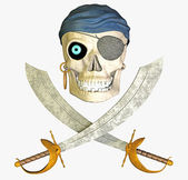 Undead pirate — Stock Photo