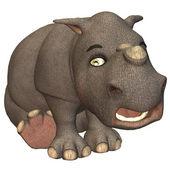 Rhino toon — Stock Photo