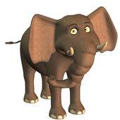 Cute toon elephant — Stock Photo
