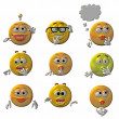 Emoticons - smileys - Stock Photo